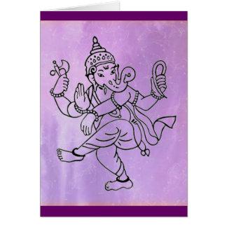 Tanzen Ganesha - Lavendelhintergrund Karte