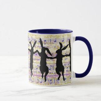 Tanzen-Häschen-Kaffee-Tasse Tasse