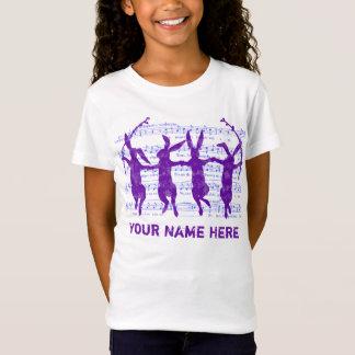 Tanzen-Häschen-Vintages Blick-T-Stück T-Shirt