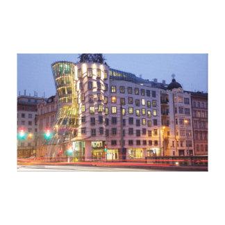 Tanzen-Haus-Prag-Andenken-Foto Leinwanddruck