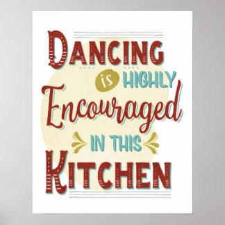 Tanzen herein in hohem Grade angeregt in dieser Poster