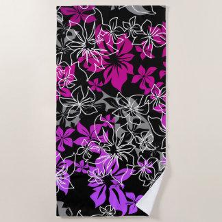 Tanzen-Hibiskus-hawaiische violette Mischung Strandtuch