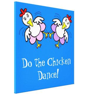 Tanzen-Huhn-Leinwand Leinwanddruck