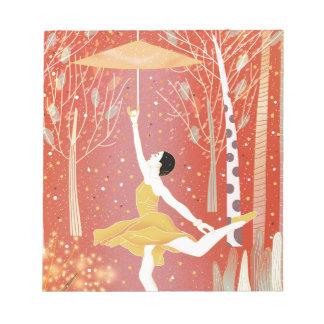 Tanzen in Schnee-Rot Notizblock