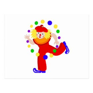 Tanzen-Jongleur-Clown Postkarte