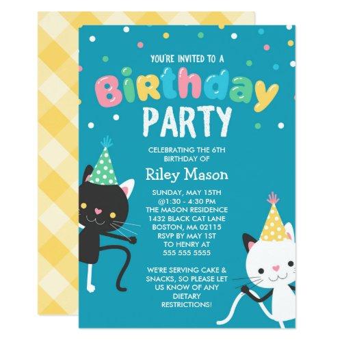 ... Tanzen Katzen Kindergeburtstag Party Einladung ...