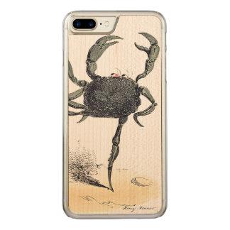 Tanzen Krebs auf Holz Carved iPhone 8 Plus/7 Plus Hülle