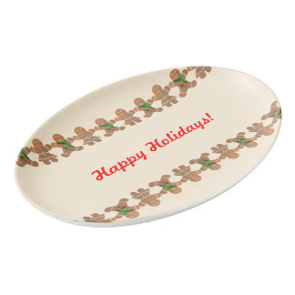 Tanzen-Lebkuchen-Plätzchen Porzellan Servierplatte