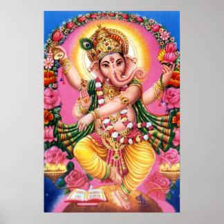 Tanzen-Lord Ganesha Poster