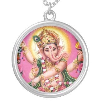 Tanzen-Lord Ganesha Versilberte Kette