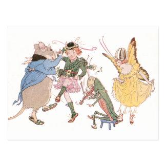 Tanzen-Maus und Feen Postkarte