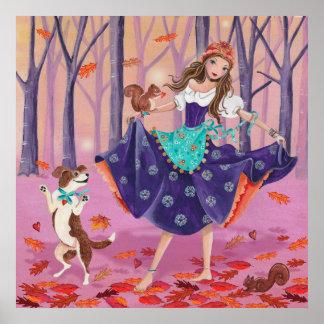 Tanzen mit dem Blätter - Plakat