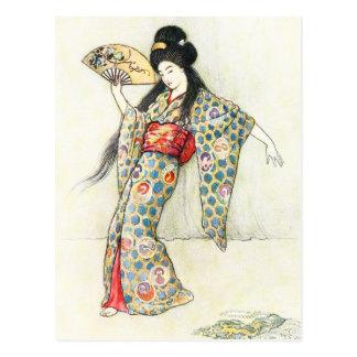 Tanzen mit dem goldenen Kamm Postkarte