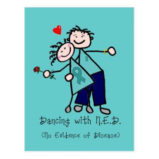 Tanzen mit N.E.D. Eierstockkrebs Postkarte