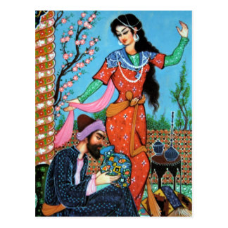 Tanzen-Nymphen- und Dichterpostkarte Postkarte