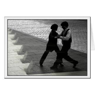 Tanzen-Paare Notecard Mitteilungskarte
