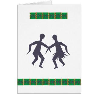Tanzen-Paare von Afrika Karte