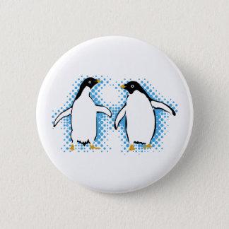 Tanzen-Pinguine Runder Button 5,7 Cm