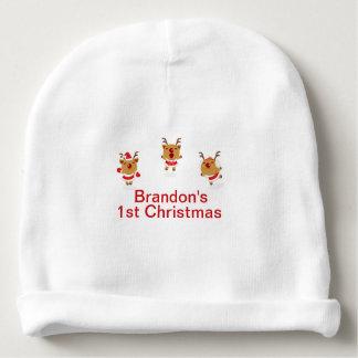 Tanzen-Ren-1. erstes frohe Weihnacht-Weihnachten Babymütze