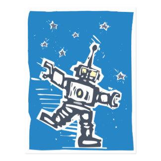 Tanzen-Roboter Postkarte