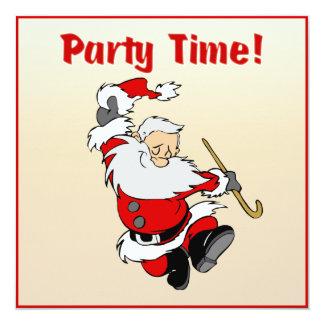 Tanzen-Sankt-Weihnachten laden ein Quadratische 13,3 Cm Einladungskarte