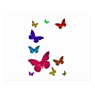 Tanzen-Schmetterlinge Postkarte