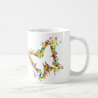 Tanzen-Schmetterlings-Spritzen Kaffeetasse