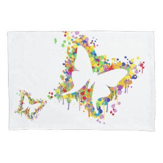 Tanzen-Schmetterlings-Spritzen Kissenbezug