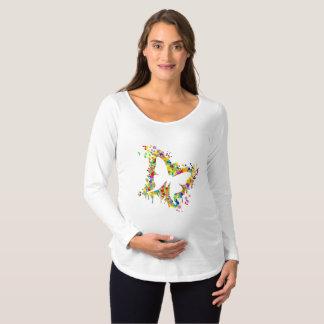 Tanzen-Schmetterlings-Spritzen Schwangerschafts T-Shirt