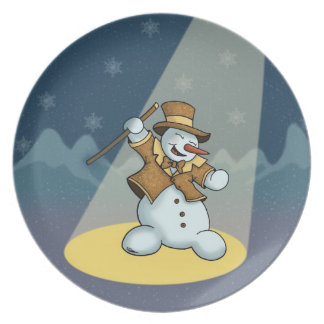 Tanzen-Schneemannplatte Teller