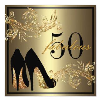 Tanzen-Schuhe - fabelhafte 50. Einladungskarten