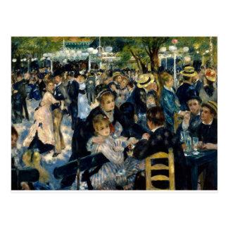 Tanzen Sie an La Galette Le Moulin de durch Renoir Postkarte