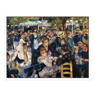 Tanzen Sie bei Moulin de la Galette durch Renoir Postkarte