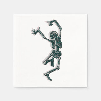 Tanzen-Skelett Papierservietten