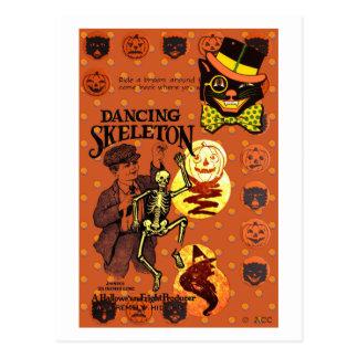 Tanzen-Skelett Postkarte