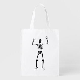 Tanzen-Skelett Wiederverwendbare Einkaufstasche