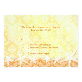 Tanzen-Starfish Jeweled Strand-Hochzeit UAWG 8,9 X 12,7 Cm Einladungskarte