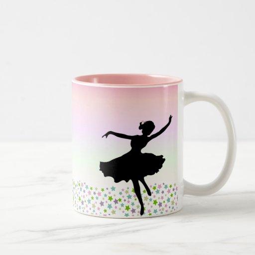 Tanzen unter die Sterne - rosa Sonnenuntergang Tasse