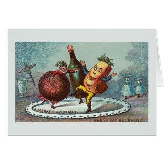 """""""Tanzen-Weihnachtsnahrung!"""" Vintage Karte"""