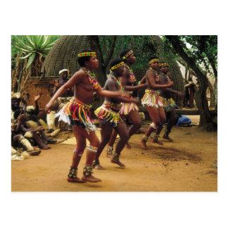 Tanzen, Zulu-Art - Südafrika Postkarte