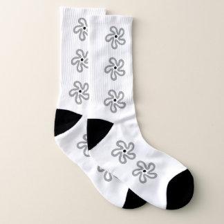 Tanzende graue abstrakte Muster-mit Blumensocken Socken