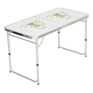 Tanzende grüner Affe pong Tabelle Beer Pong Tisch