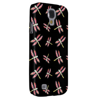 Tanzende rosa Libellenillustration Galaxy S4 Hülle