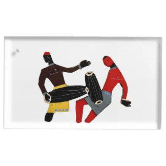 Tanzender Stammes- Tabellen-Kartenhalter