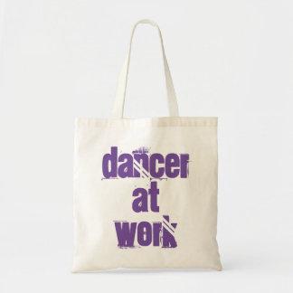 Tänzer an der Arbeits-weißen/lila Taschen-Tasche Tragetasche