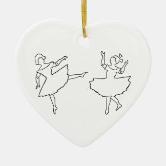 Tänzer-Ausschnitt-Illustration Keramik Herz-Ornament