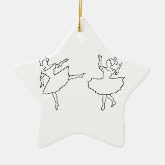 Tänzer-Ausschnitt-Illustration Keramik Stern-Ornament