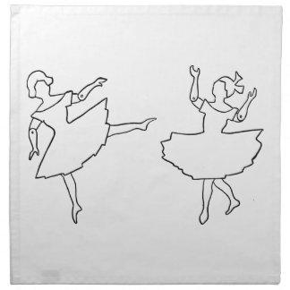 Tänzer-Ausschnitt-Illustration Stoffserviette