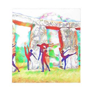 Tänzer bei Stonehenge Notizblock