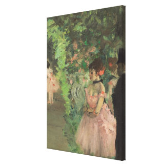 Tänzer-Bühne hinter dem Vorhang Edgar Degass |, Leinwanddruck